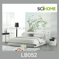 modern bedroom furniture fabric bed with upholstered headboard