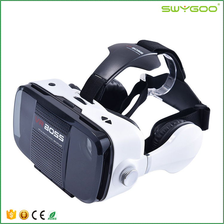 ABS material 3d vr glasses all in one vr for watching full hd 3D movies and playing 3D games