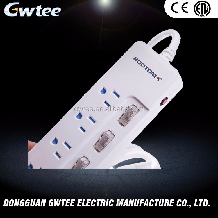 Best discount Gwtee multiple outlets wall mounted surge protector RA-6205