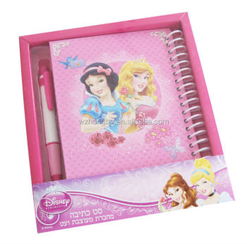 kids stationery set/notebook with pen set/advertisement stationery