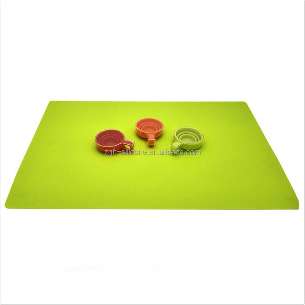 quare silicone placemat for table-quilted dining table placemats -heat resistant silicone table mat