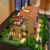 House Plans and Miniature House Model with 3D Renderings drawings