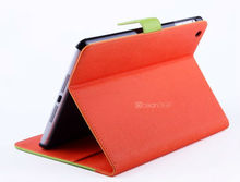 simple design leather flip cover for ipad mini tablet case