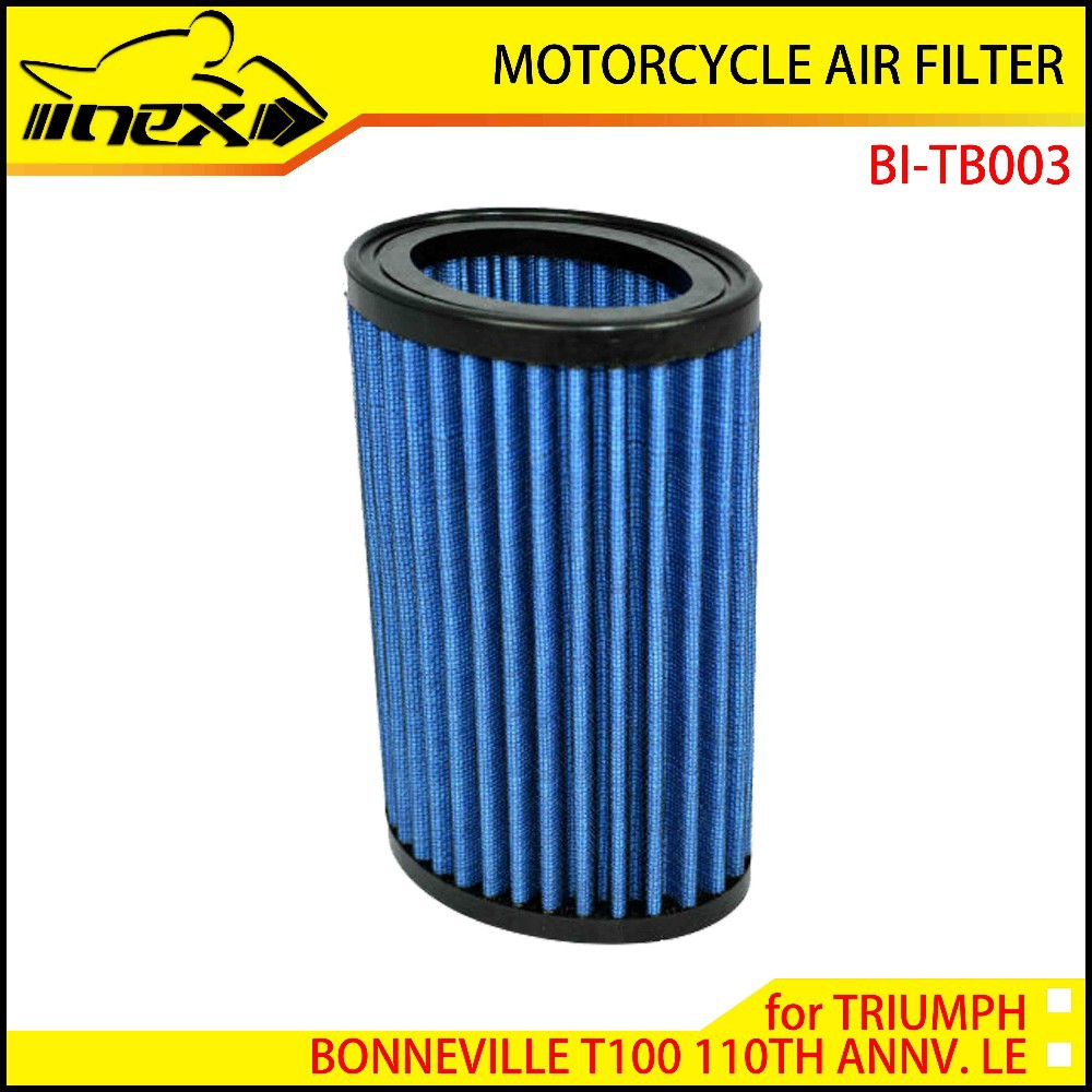 NEX High Flow Air Filter for TRIUMPH BONNEVILLE T100 110TH ANNV. LE 2012