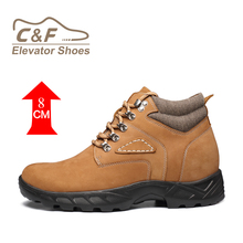 CF Brown Suede Leather Hiking Boots Army 511 Military Boots Combat Safety Altama Jungle Boots with Hidden Heel 7cm