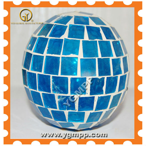 Sky Blue of mirror glass ball , glass ornament ball, christmas window ball