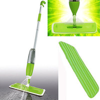 Household Floor Dust Cleaner Microfiber Pad Integrated Water Spray Flat Mop