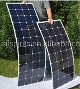 semi flexible solar panel 100W 120W 130W 150W 180W 200W solarpanel flex supplier