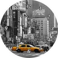 Cheap modern decoration round canvas wall clock