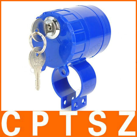 Blue Anti-Theft waterproof Bicycle Motorcycle Alarm Lock with 120 db audio alarm