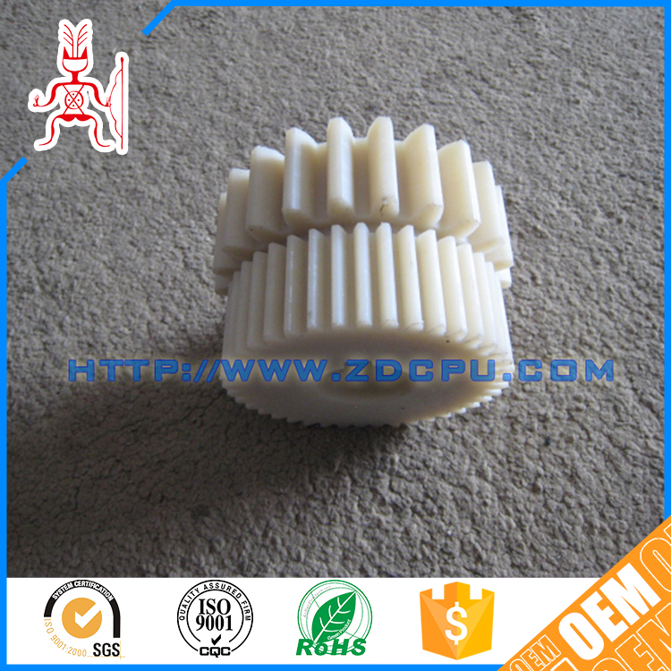 China ISO9001 factory molded 22t white plastic gear