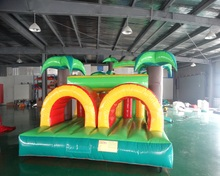 Outdoor Giant Durable inflatable obstacle course bounce house for sale