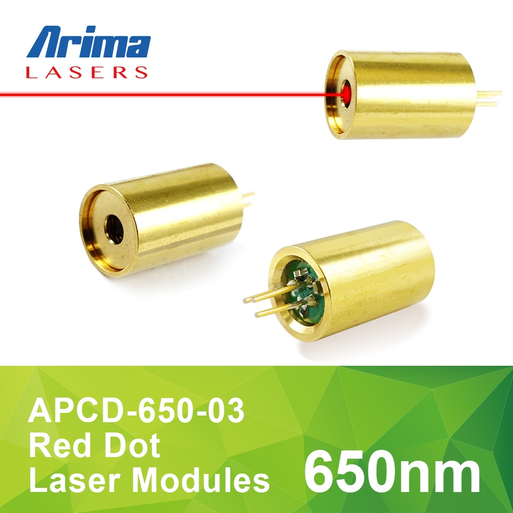 650nm 3mW 3V D6.2 mm Red Laser Diode Module, Mini Red Dot Laser Module for Lighting/ Pointer