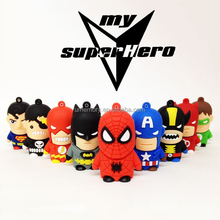 Hot Sale Cartoon Pendrive Super Heros 8GB 16GB 32GB 64GB Flash Memory USB Pen drive