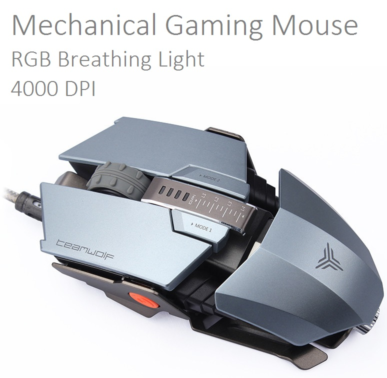 Laptop Computer mouse 4000 DPI RGB Mechanical gaming mouse with RGB light