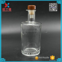 14oz clear empty tequila glass bottle
