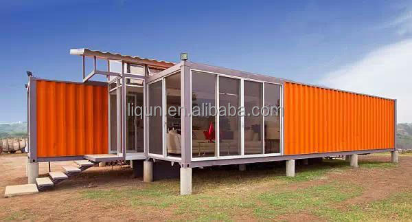 2015 hot sale luxury prefab steel villa prefab shipping for Villa container