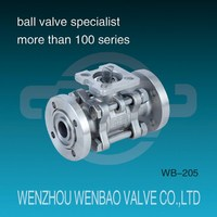 ISO 5211 3PC Flanged high vacuum ball valve /Stainless Steel Pneumatic Vacuum Ball Valve