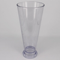 Hot sell long drink glass 16oz plastic measuring cup freezer drinking glass cups