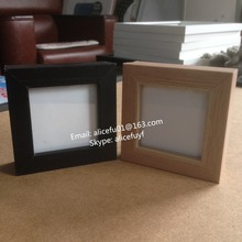 Square black and wood color MDF wooden photo pictrue frame 4x4