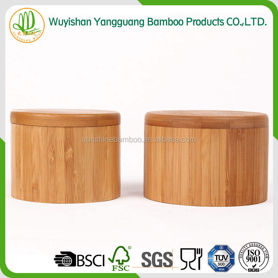 salt bamboo storage jars
