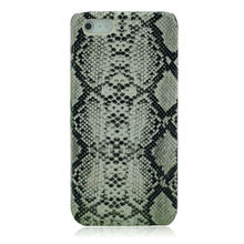 Snake skin genuine leather case for iphone 5