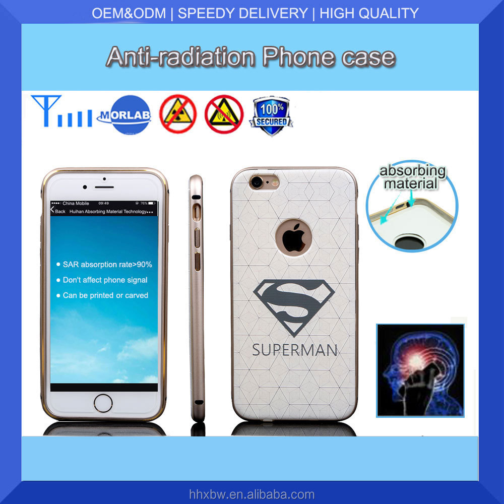 Factory wholesale high quality for iphone6&6s anti radiation plastic diamond mobile phone cover