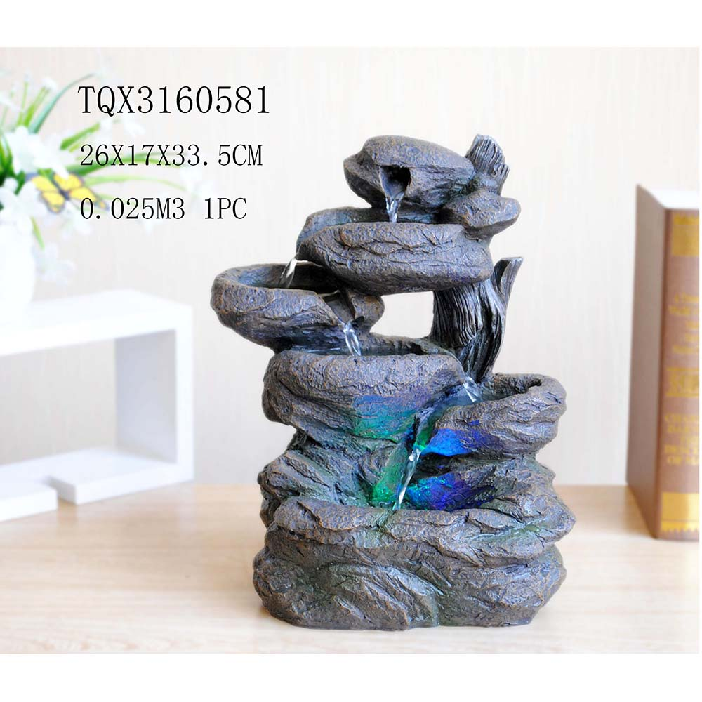 Handmade resin <strong>crafts</strong> artificial rock tabletop fountains