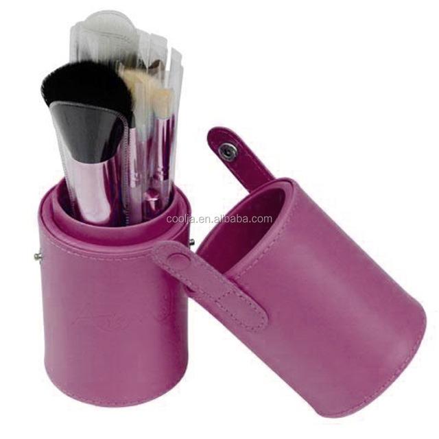 New fashion!Make Up Brushes 12 PCS purple Makeup Brush Cosmetic Set Eyeshadow wood Brush Blusher Tools with Holder Case