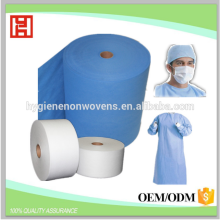 Hospital use PP spunbond non woven fabric for isolation disposable surgical gown