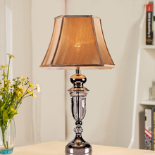 XingJun hotel Luxury villas classic american style led crystal chandelier decorative table lamp