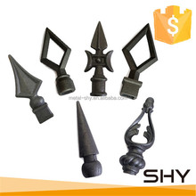 factory iron spearheads, forged garden fence post spear