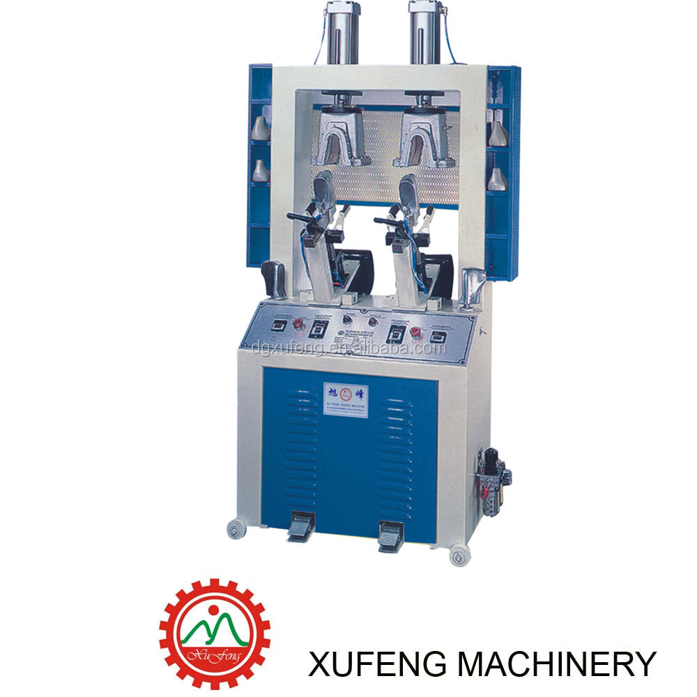 double heat counter moulding machine XF8402/shoe making machine /leather machine/shoe moulding machine