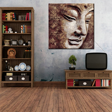 Simple Beautiful Art Canvas Modern Abstract Buddha Painting