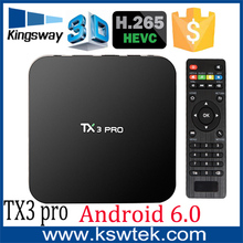 2016 High definition stable signal 1/8gb kodi 16.1 pre-install tx3 pro web browser internet tv box