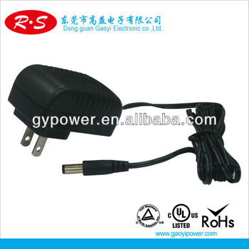 PSE/UL/CCC AC/DC Adapter, Used for IP Camera, Medical Devices and POS Terminal with 12W Maximum DC Output