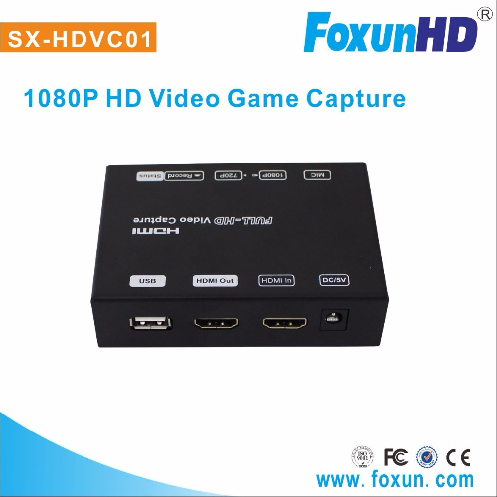 SX-HDVC01 game video capture with audio H.264 hdmi video game capture support 1080p