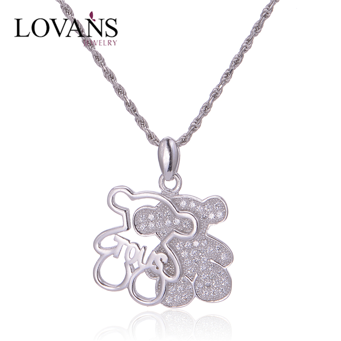 925 Silver Pendant Necklacehip Hop Pendant Stock Jewelry Fp070
