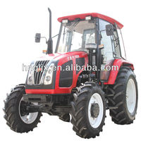 Quality Great Strong 95hp 4wd agriculture wheeled tractor paddy tyre, cabin, creeper gears, hydraulic remote