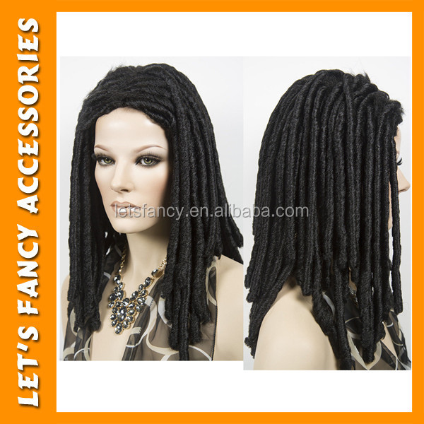 high quality synthetic hair wig luxury black women dreadlock funny hair wig PGWG1696