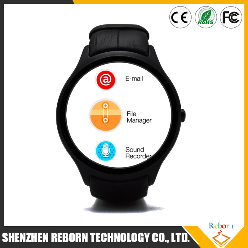 Wifi Android 4.4 3G smart watch phone with heart rate monitor vs GT08 DZ09