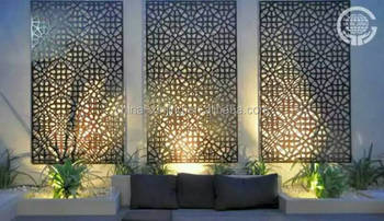 Decorative perforated aluminum screen panel