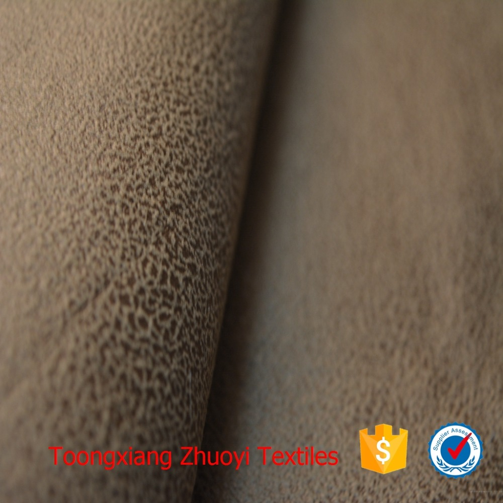OEM bronzing suede with coral fleece for coat