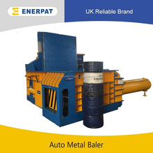 Hydraulic scrap metal turnings baling machine
