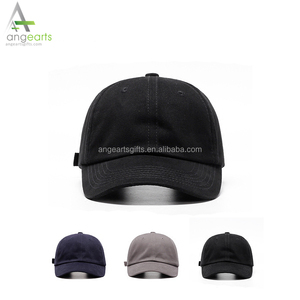 Short bill cotton stone washed baseball cap, 6 panel unstructured cheap wholesale blank hats cap plain custom dad hat