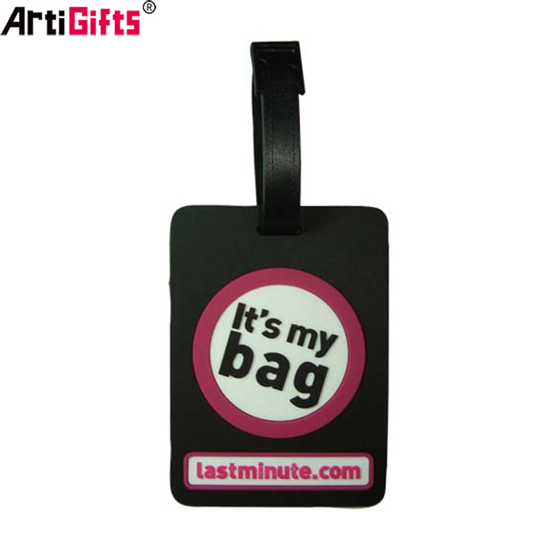 Custom Factory manufacture silicone luggage tag make your own design
