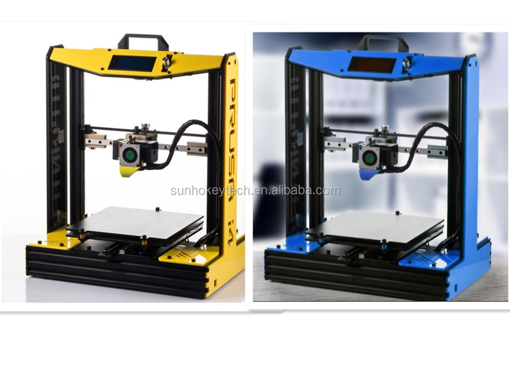 2016 Prusa i4 3D Printer Kit Semi-Assembled 2020 Aluminum Frame linear guide rail for XZY axix Prusa i4 machine for home using