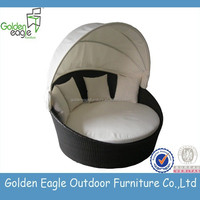 Outdoor rattan wicker sofa set/single round sofa with cushion