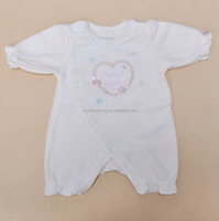 sleeveless summer baby set new born hand smocked boys romper