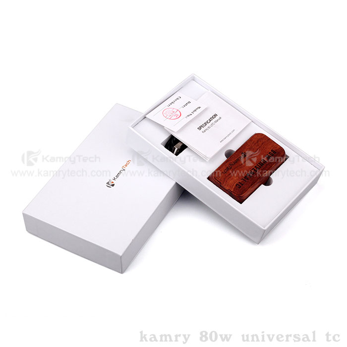 2016 china good e cig kamry wood 80W UTC low price vapor products for import hotsale